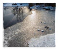 Winter Landscape At Whitesbog Fleece Blanket