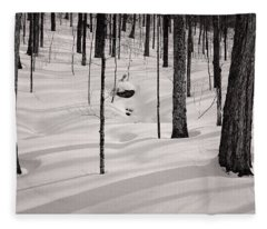 Winter Light In The Forest Fleece Blanket
