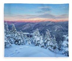 Winter Light, Mountain Views Fleece Blanket