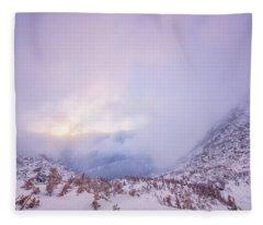 Winter Morning Light Tuckerman Ravine Fleece Blanket