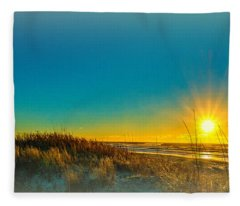 Winter On The Southern Outer Banks Fleece Blanket