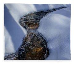 Winter Stream. Fleece Blanket