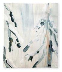 Winter Trees #3 Fleece Blanket