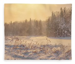 Winter Vermont Style Fleece Blanket