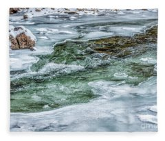 Winter View Williams River Fleece Blanket