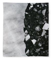 Winters Edge - Aerial Photography Fleece Blanket