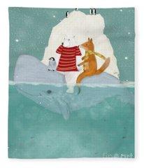 Winters Journey Fleece Blanket