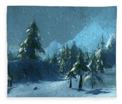 Winterspring Fleece Blanket