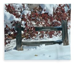 Wintery Fall Fleece Blanket