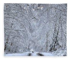 Wintry Road Fleece Blanket