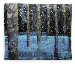 Wintry Scene I Fleece Blanket