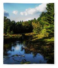 Wisconsin Waterscape Fleece Blanket