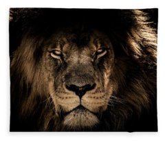 Wise Lion Fleece Blanket