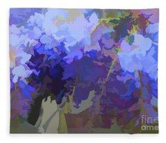 Wisteria Colours Fleece Blanket