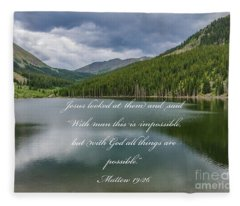 With God All Things Are Possible Fleece Blanket