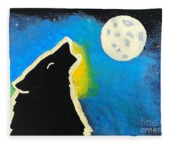 Wolf Moon Fleece Blanket
