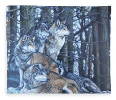 Wolf Pack Fleece Blanket