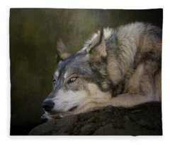 Wolf Watch Fleece Blanket