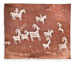 Wolfe Ranch Petroglyphs Fleece Blanket