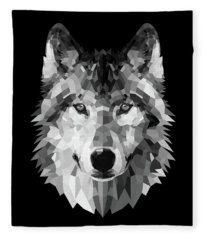 Wolf's Face Fleece Blanket