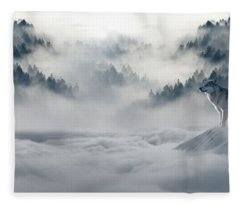 Wolfs In The Snow Fleece Blanket