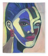 Woman Of Color Fleece Blanket
