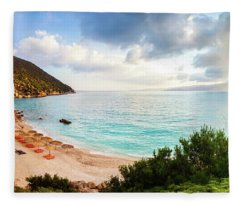 Wonderful Beach Without People At Morning Fleece Blanket