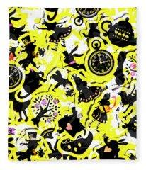 Wonderland Design Fleece Blanket