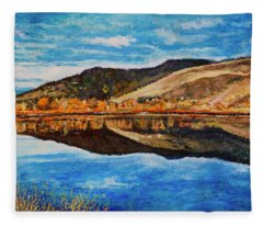 Wonderland Lake Fleece Blanket