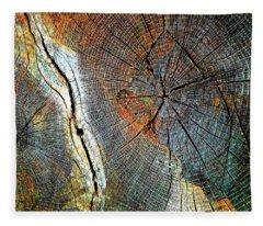 Wood Age Cut Wood Fleece Blanket
