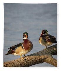 Wood Duck Hangout Fleece Blanket