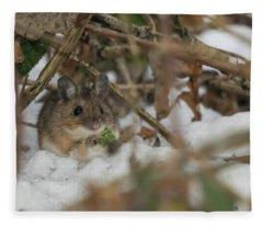 Wood Mouse Fleece Blanket