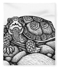 Wood Turtle Fleece Blanket