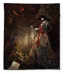 Wood Witch Fleece Blanket