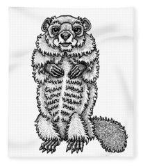 Woodchuck Fleece Blanket