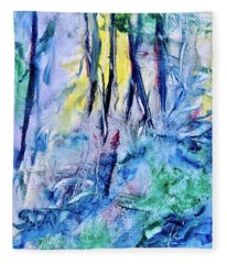 Wooded Stream Fleece Blanket