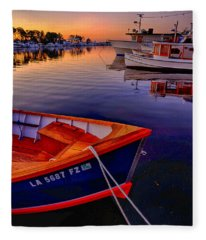 Wooden Boats Fleece Blanket