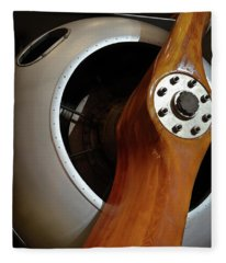Wooden Propeller Fleece Blanket