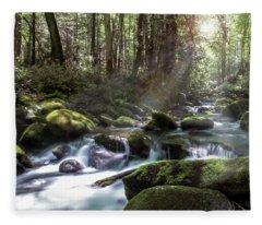 Woodland Falls Fleece Blanket