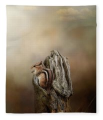 Woodland Visitor Fleece Blanket