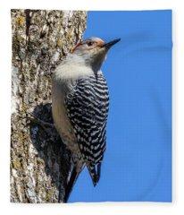 Fleece Blanket featuring the photograph Woodpecker by Allin Sorenson