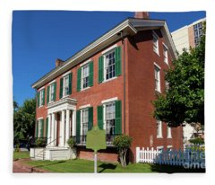 Woodrow Wilson Boyhood Home - Augusta Ga 2 Fleece Blanket