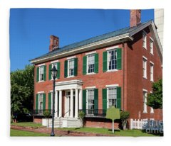 Woodrow Wilson Boyhood Home - Augusta Ga 3 Fleece Blanket