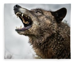 Woof Wolf Fleece Blanket