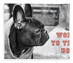 Word To The Dog Fleece Blanket