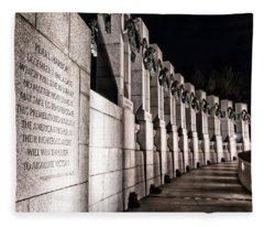 World War II Memorial Fleece Blanket