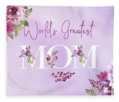 World's Greatest Mom 2 Fleece Blanket