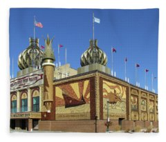 Worlds Only Corn Palace 2018-19 Fleece Blanket