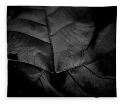 Worn Leaf Fleece Blanket