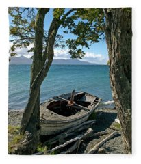 Wrecked Boat Patagonia Fleece Blanket